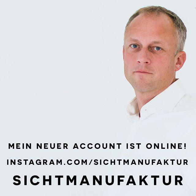 Just launched my new Account instagram.com/sichtmanufaktur. Künftig werde ich auf diesem Account instagram.com/chrmh eher persönliche Bilder posten, best of SICHTMANUFAKTUR findet Ihr dann auf instagram.com/sichtmanufaktur. Follow me